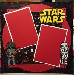 Disney 12 x 12 scrapbooking layout - Star wars