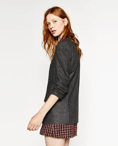 Image 3 of ROLL-UP SLEEVE JACKET from Zara