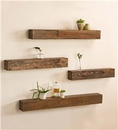 "Rustic Wooden Shelf, 42""L"