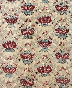 Textiles - Place of Origin: France, Europe Date: 1800-1820 Materials: Cotton Techniques: Woven (plain), Block printed, Mordant style