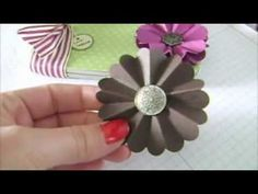 Tutorial - How To Make A Paper Flower Rosette w/ Stampin' Up!