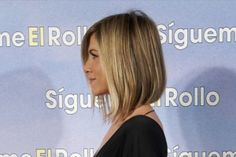 """I like this one too.  According to her hairstylist, """"In the back it angles up—it was cut at the nape. I love it when it's slightly angled. The angle adds a modern edge to it. To keep it modern, it's not too blunt but also not too layered. It kind of has a choppier edge. The ends are cut into, but mainly they're all one length."""""""