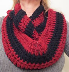 Simple, comfy cowl scarf free #crochet pattern from My Recycled Bags