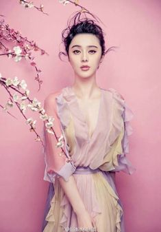 Fan Bingbing in Valentino photographed by Chen Man for Elle China, March 2015.