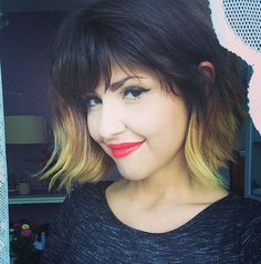 Bright Bob Hairstyles with Bangs – Texture & Colourin Perfect Harmony!