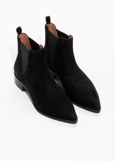 627dbb691e179f Back image of Stories chelsea boots in grey Braune Wildleder Chelsea  Stiefel