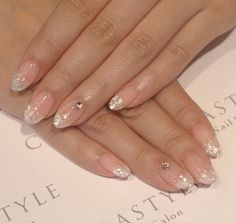 Elegant #french #nail Even though I think fake nails are tacky for your wedding, this could be cute for pictures.