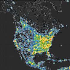 "vox: "" Scientists estimate that the Milky Way is no longer visible to one-third of humanity — including 80 percent of Americans, shown in this Science Advances map. Artificial light from cities has created a permanent ""skyglow"" at night, obscuring..."