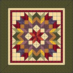 "Harvest Wreath - Animated Quilt Pattern - Wall Hanging 36""x 36"""