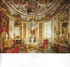 Castle Linderhof - The King's Dining Room, another of King Ludwig II's castles