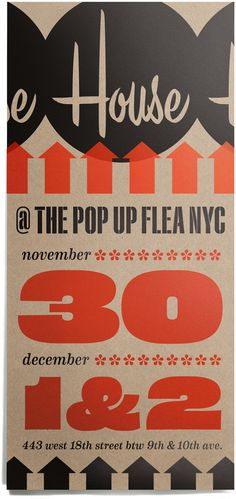 great blog and even greater prints!  House Industries, Eames Numerals, Eames Numbers, Pop Up Flea NYC