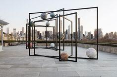 On roof of New York's Met museum, planets and skyscrapers collide Broad Art Museum, Museum Of Modern Art, Art Basel Hong Kong, Instalation Art, Sound Installation, Art Fund, Jewish Museum, Venice Biennale, Steel Sculpture