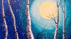 how to paint a tree with acrylics for beginners - YouTube