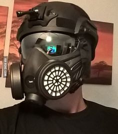 Modificated my Paintball mask a bit...