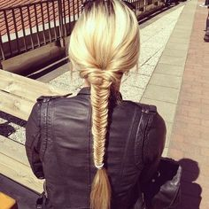 Fishtail braided hairstyle