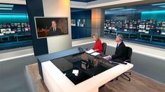 ITV News Virtual Newsroom Set Design