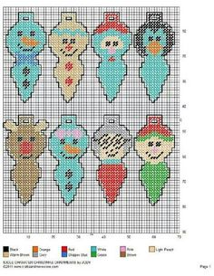 ICICLE CHARACTER CHRISTMAS TREE ORNAMENTS by JODY 2/2                                                                                                                                                                                 More