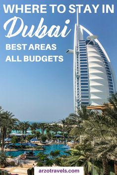 Find out about the best places to stay in Dubai - the best areas for each traveler and the best hotels for each budget. Where to stay in Dubai. Accommodation in #Dubai. #UAE