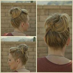 DIY Wedding Hair EASY POOFY BUN FOR SHORT HAIR