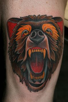 Stefan Johnsson - Roaring Bear Tattoo http://inkchill.com/roaring-bear-tattoo/ #tattoo #animal #bear