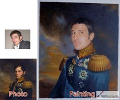 Custom oil portrait-Shy general