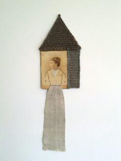 Hand embroidered cabinet card photograph. Textile art by me. (Cindy Steiler ) http://cindysteiler.com
