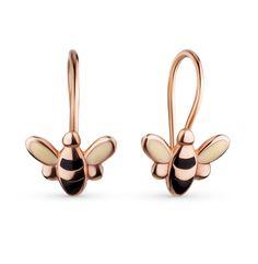 Золотые серьги SOKOLOV 025124*: розовое золото — купить в интернет-магазине SUNLIGHT, фото, артикул 38109