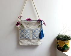 Shoulder bagbohemian handbagVegan tote by CheriDemeter on Etsy