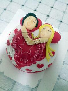 mini bolo aniversario de namoro/Valentine's mini cake