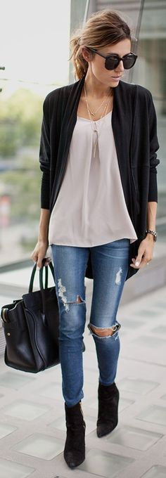 Sweater and loose tank