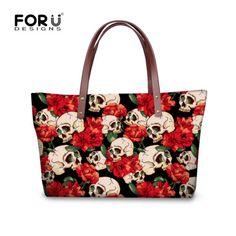94195b0ce6f7 Cute Skull Womens Ladies Designer Celebrity Tote Bag Shoulder Satchel  Handbags.  afflink Large Bags