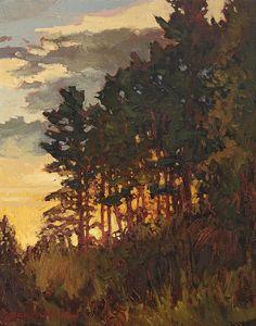 Sunset Over The Hill by Jan Schmuckal