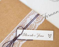 Convite de Casamento - Rústico Chic