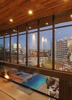 #moderndesign #architecture #SunsetStrip #curtainwall #pool #pocketdoors  http://www.thebowerygroup.com/