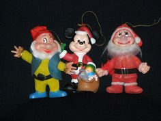 Vintage 1950s LOT of Three Disney Character Christmas by parkie2, $24.95