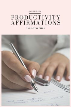If you find it difficult to manage your time, try repeating these productivity affirmations to help you maintain a focused mindset! #anikomm Affirmations For Women, Daily Positive Affirmations, Morning Affirmations, Boss Babe, Girl Boss, No Time For Me, All About Time, Words Of Affirmation, How To Influence People