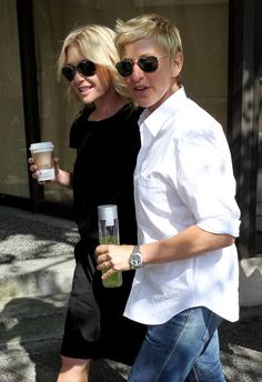 Portia de Rossi - Ellen DeGeneres and Portia de Rossi Out and About