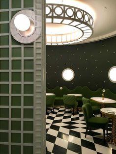 <p>One of Trendland's favorite interior designer, India Mahdavi recently finished the latest Ladurée interior in the Four Seasons Hotel at the Quai des Bergues in Geneva. The patisserie, restaur