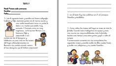 8 Pequeños textos para trabajar la comprensión lectora en el primer ciclo de primaria Words, School, Mini, Texts, Frases, Reading Comprehension, Comprehension Activities, Homeschool, Storytelling
