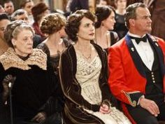 Downton Abbey :) I think I want to do my hair like Elizabeth McGovern's here for senior ball