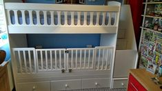 Bunk beds with removal cot gates