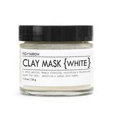 Fig + Yarrow | Clay Mask (White - for Dry and Sensitive Skin)