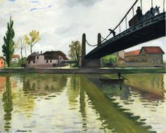 """Le Pont de Conflans"", óleo sobre lienzo de Albert Marquet (1875-1947, France)"