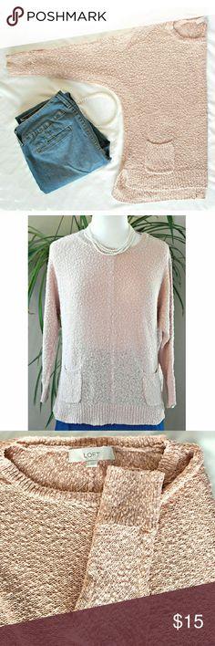 Sweater. NWOT. Dusty pink/ peach color. Details: ... 100% cotton. Loft Fashion Sweaters Crew & Scoop Necks