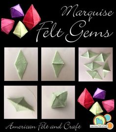 No treasure is complete without gems. Whether it's a mine craft cave or a pirate treasure there are times you just need some gems. Seaside Theme, Gem Crafts, Felt Banner, Pirate Treasure, Felting Tutorials, Felt Patterns, Felt Diy, Jingle Bells, Gems