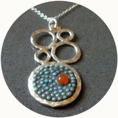 bubble seed bead necklace with carnelion by myfriendroze on Etsy, $98.00