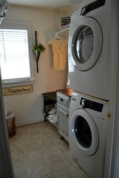 Down to Earth Style: Small Laundry Room - making more space