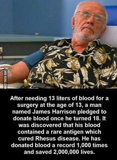Faith In Humanity Restored - Nerd fact. James Harrison aka Khan in Star Trek. His blood is the cure for basically everything. We Are The World, In This World, James Harrison, Human Kindness, Kindness Matters, Life Quotes Love, Work Quotes, Change Quotes, Attitude Quotes