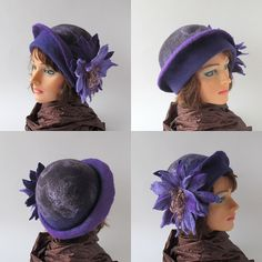 Felted hat purple | Flickr - Photo Sharing!