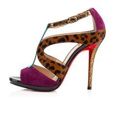 OSLET MULTI, EVEQUE,Cuir Vachette imprimé,Women Shoes,louboutin.